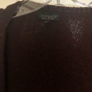 Topshop Maroon knitted cardigan